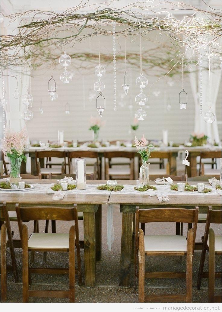 Idée naturel décoration salle de marige