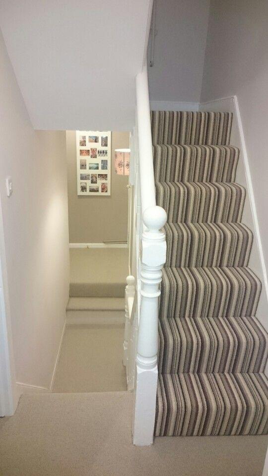 Stripy / plain carpet combination