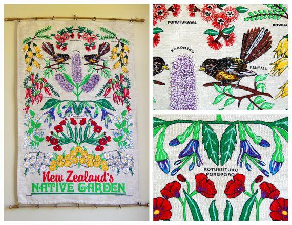 Retro Kiwiana New Zealand Tea Towel Wall by TheRetroRecyclery