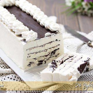 Torta gelato alla panna e cioccolato ricetta   Ho Voglia di Dolce