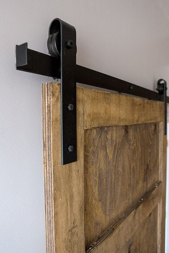 Industrial/Classic Sliding Barn Door Closet by eastoaklane on Etsy