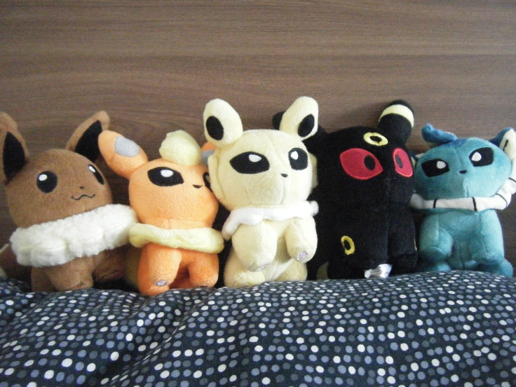Eeveelution plushies pokemon gotta catch them all for Felt plushie templates