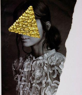 Kazuya Tsuji: Spawn_Mask I, 2011 www.kidsofdada.com/products/spawn-mask-i-2011 #art #gold #mixedmedia