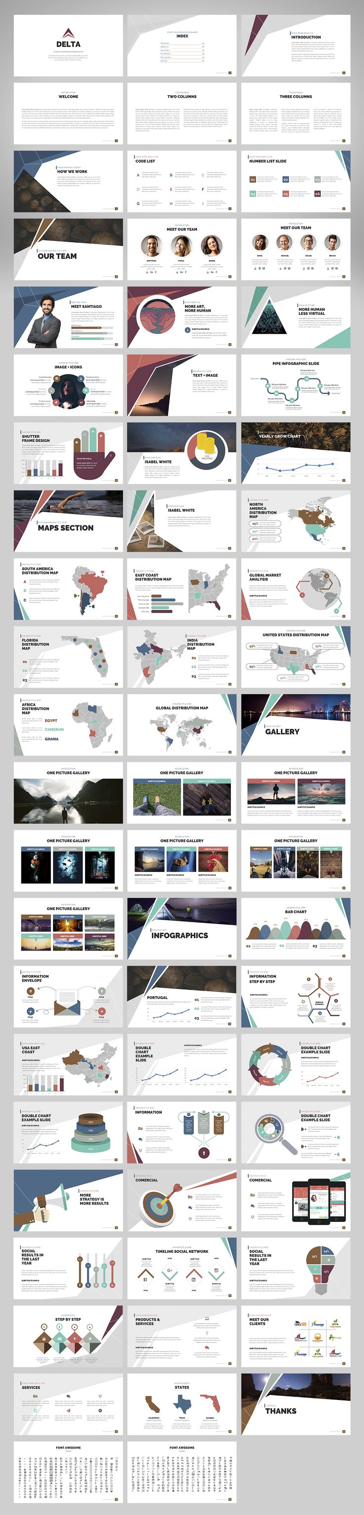 Delta | Powerpoint Template by Zacomic Studios on @creativemarket