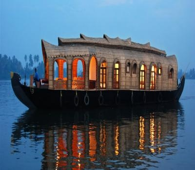 Houseboat in India.