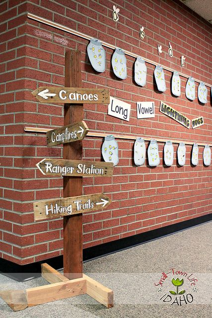 IMG_9699 camping themed classroom wooden sign by racheljashmore430, via Flickr