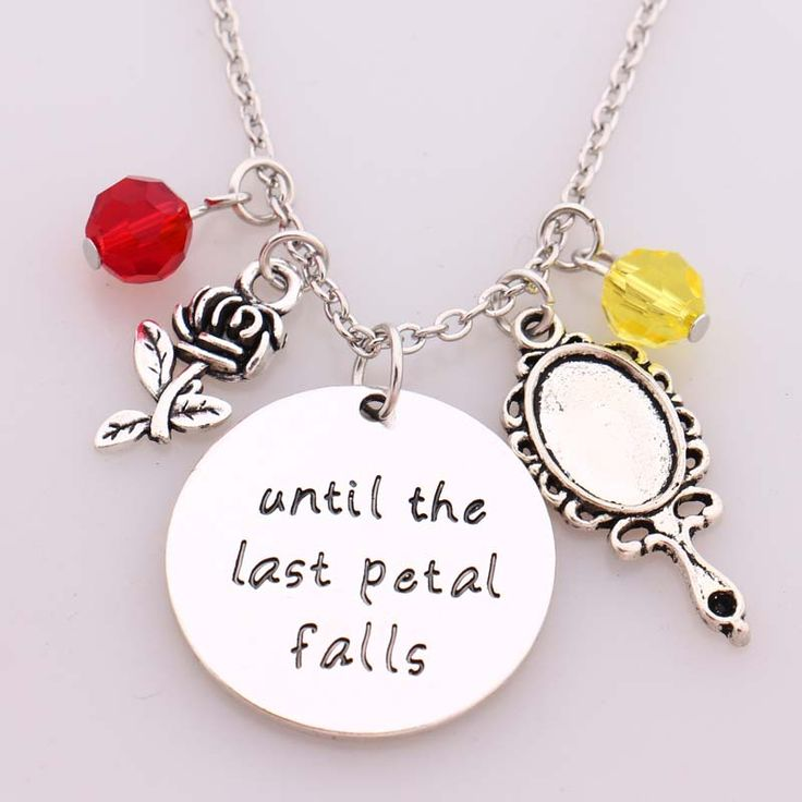 """""""Until the Last Petal Falls"""" Beauty and Beast Pendant Necklace  Price: 6.90 & FREE Shipping  Get it here ---> https://thegiftscafe.com/beauty-and-beast-necklaceuntil-the-last-petal-fallshand-stamped-letter-pendant-with-rosemirror-with-crystal-charms-necklace/ Like Our FB Page --> https://www.facebook.com/EazyDevices/  #wearabledevices"""