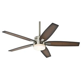 Hunter�54-in Windemere Brushed Nickel Indoor Ceiling Fan with Light Kit and Remote Item #: 459540 |  Model #: 59039  $189.00 AT LOWES