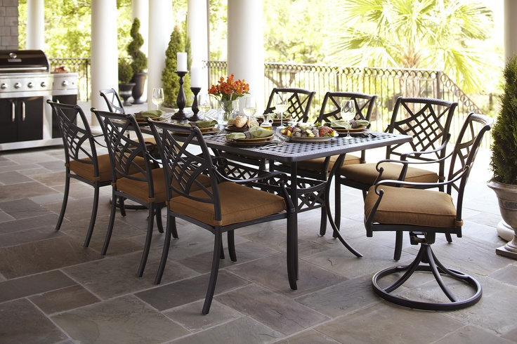 A customizable patio set to fit your family's needs.