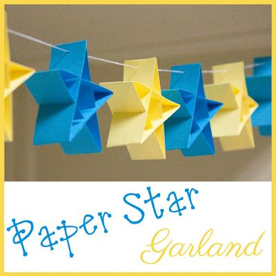 Paper star garland (DIY).