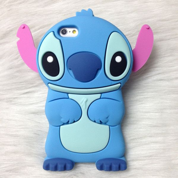Online Shop 3D Cute Cartoon Silicone Stitch Case For iPhone 6 6 plus... via Polyvore featuring accessories, tech accessories y comic book