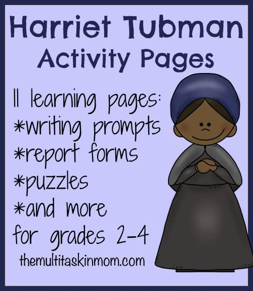 Free Harriet Tubman Unit Study - This Free Harriet Tubman Unit Study from The Multi Taskin Mom includes KWL chart, Copywork – manuscript and cursive, Fact and opinion practice and more!