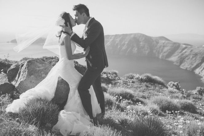 Tie the Knot in Greece | Santorini Wedding | Design By Stella and Moscha - Exclusive Greek Island Weddings | Photo by Chris Spira | http://www.stellaandmoscha.com