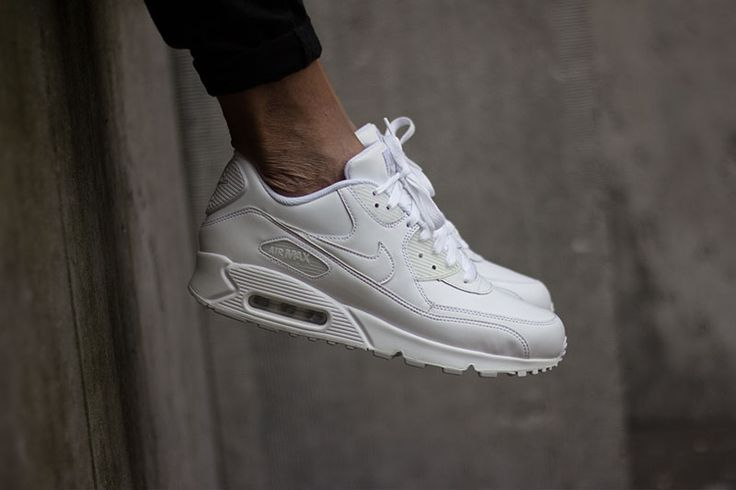 Nike AIR MAX 90 LEATHER White, shop this sneaker at http://www.frontrunner.nl/asics/