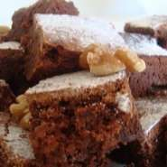 Brownies caseros de chocolate