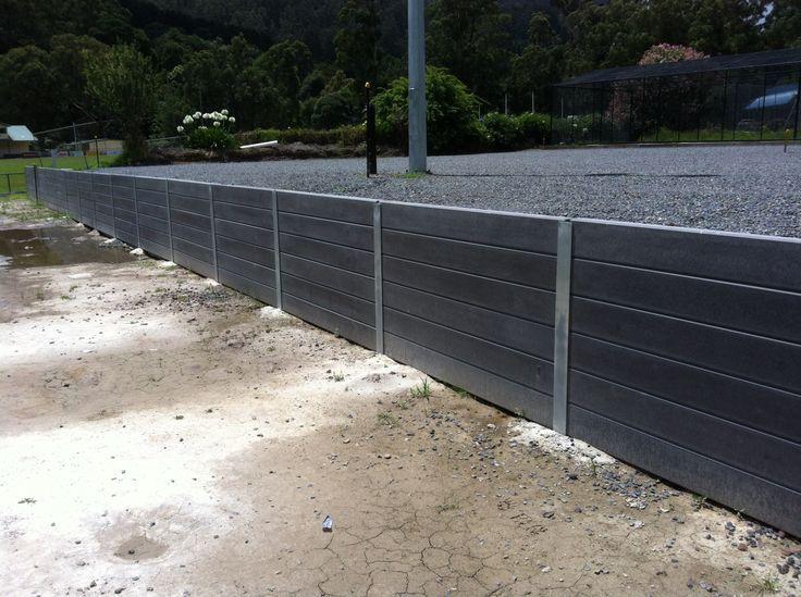 Image Result For Precast Concrete Planks For Retaining Walls Black Sleeper Retaining Wall Concrete Sleepers Concrete Sleeper Retaining Walls