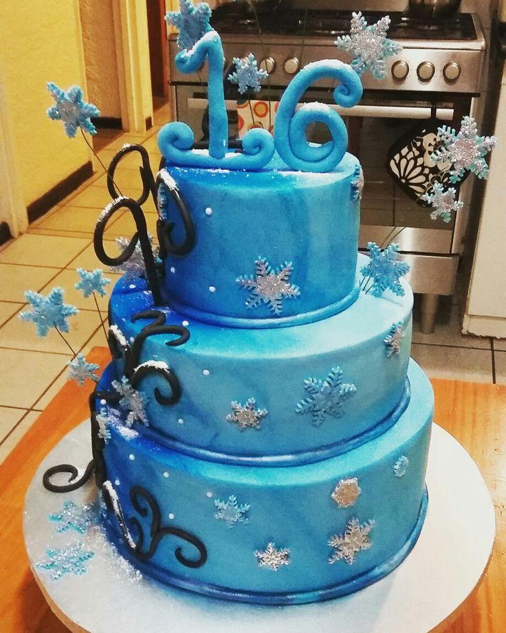 Ice design  sweet 16 birthday cake