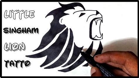 How To Draw Little Singham Lion Tattoo On Hand Lion Tattoo Lion Tattoo Design Hand Tattoos