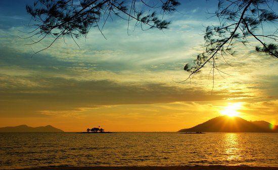 Pemandangan Alam Pantai Sunset Pemandangan Foto Alam Latar