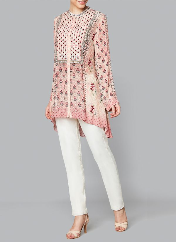 Anita Dongre | Blush Pink Arhana Top | Shop Tops at strandofsilk.com