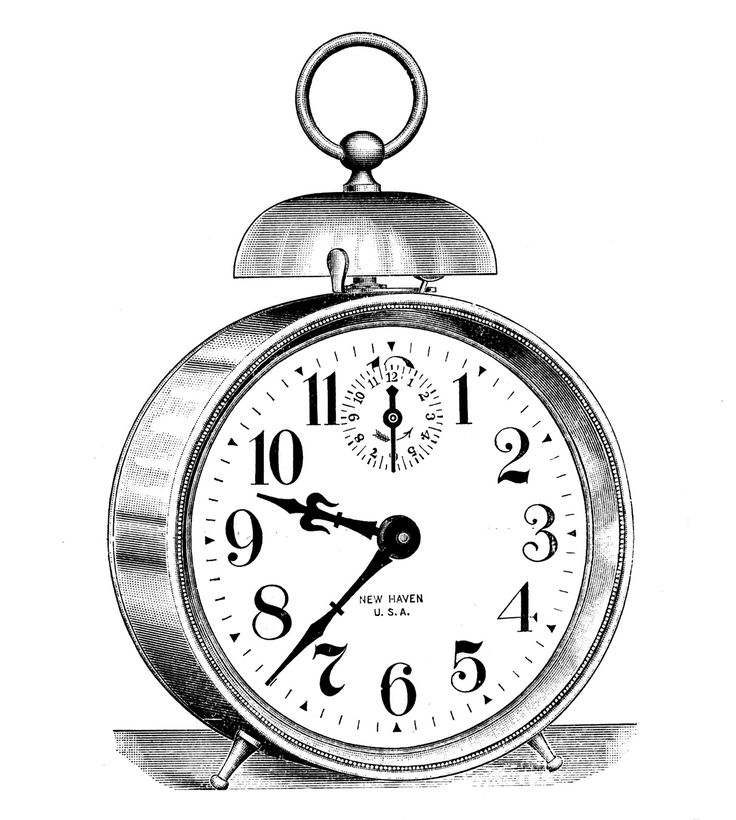 *The Graphics Fairy LLC*: Vintage Clip Art - Classic Alarm Clock - Steampunk