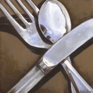 silverware still life: