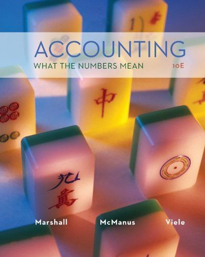 I'm selling Accounting: What the Numbers Mean (10th Edition) by David Marshall, Wayne McManus and Daniel Viele - $35.00 #onselz