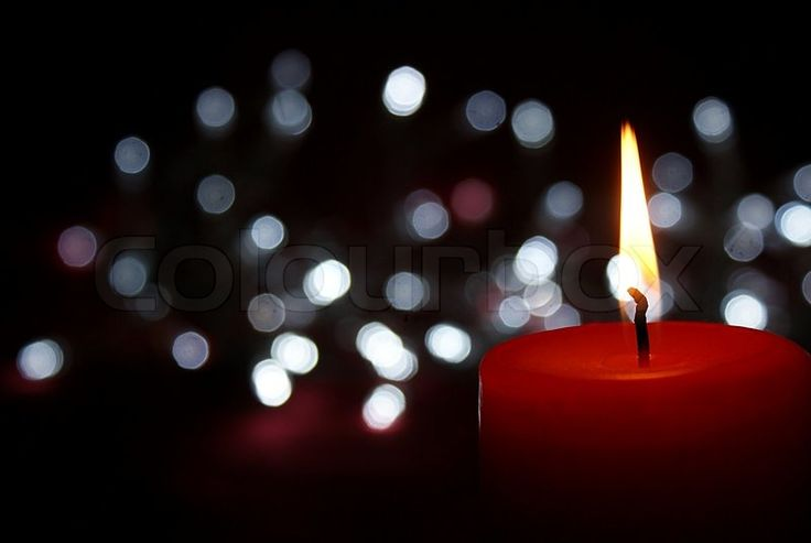 Christmas candle and decoration | Stock Photo | Colourbox on Colourbox