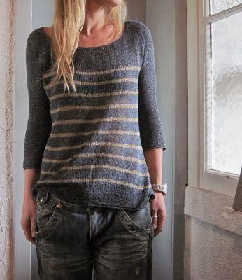 Grasflecken: knitting pattern.  I think this would be interesting with something like Kureyon stripes.