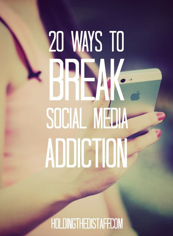 20 Ways To Break Social Media Addiction: strategies to overcome too much time on social media and things to do instead with downtime or boredom.