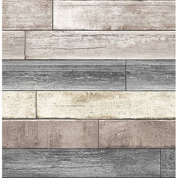 Reclaimed Wood Plank Natural Peel And Stick Wallpaper Reclaimed Wood Wallpaper Wood Wallpaper Nuwallpaper