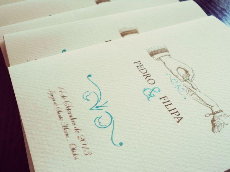 Filipa & Pedro Mass booklets /// Filipa & Pedro Missais
