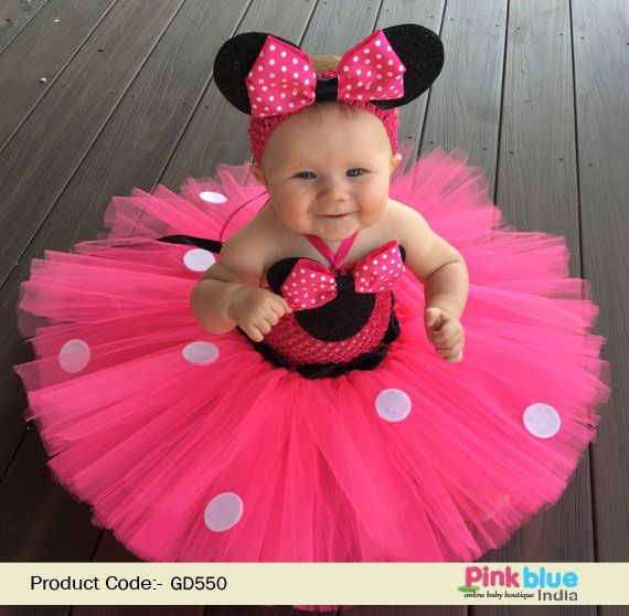 e1d486cc7a3 Minnie Mouse Infant & Toddler Girl's Tutu Dress with Headband | Baby ...