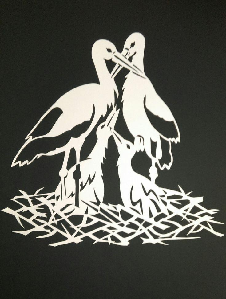 Paper cut paper cutting modern art family by WattwurmAllerlei