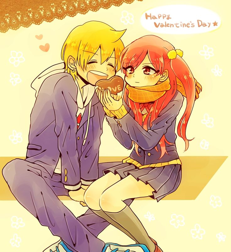 Pin en anime happy valentine's day