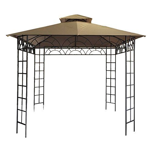 Coz Steel Patio Garden Gazebo 10x10 Outdoor Gazebos And Canopies With Ultradurable Reinforced Steel Frame And Double Cano Outdoor Gazebos Gazebo Garden Gazebo