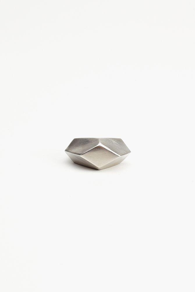 Geodesic Ring - Silver