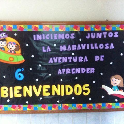 Resultado de imagen para carteleras escolares de bienvenida