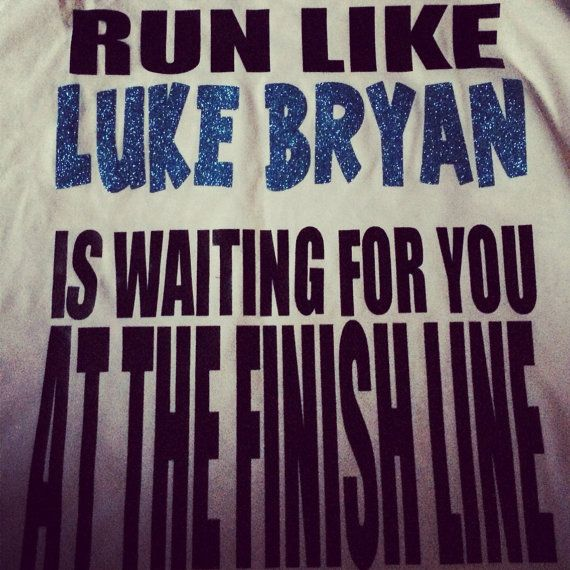 Luke Bryan Running Racerback Tank by RunBandz on Etsy, $21.00