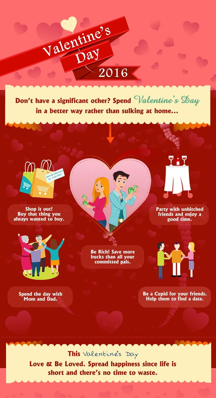 Single!! Not a BIG deal.........more good ideas to celebrate Valentines Day. #Design #InfographicDesign #DataVisualization #InfographicVideo