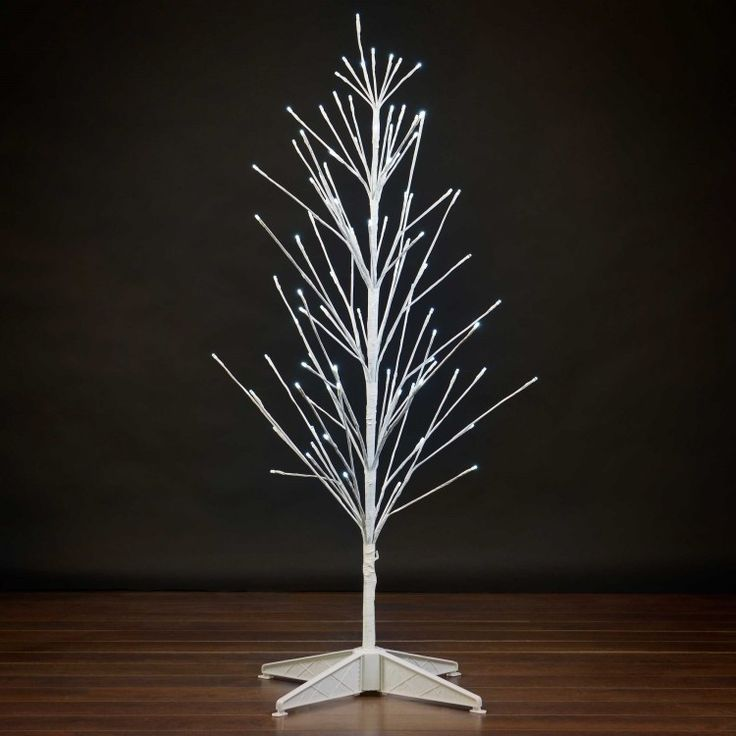 Add a charming, unique look to your home this Christmas with this Pre-Lit LED Battery Operated Twig Christmas Tree. Its simple style is joyful without being overbearing. Available in 3 foot, 4 foot or 6 foot heights, this pre-lit twig tree has warm white LED lights that will bring a warm, cozy feel anywhere in your home. Makes a great secondary tree for an entryway or other room in your home you want to add some holiday cheer without requiring too much work.