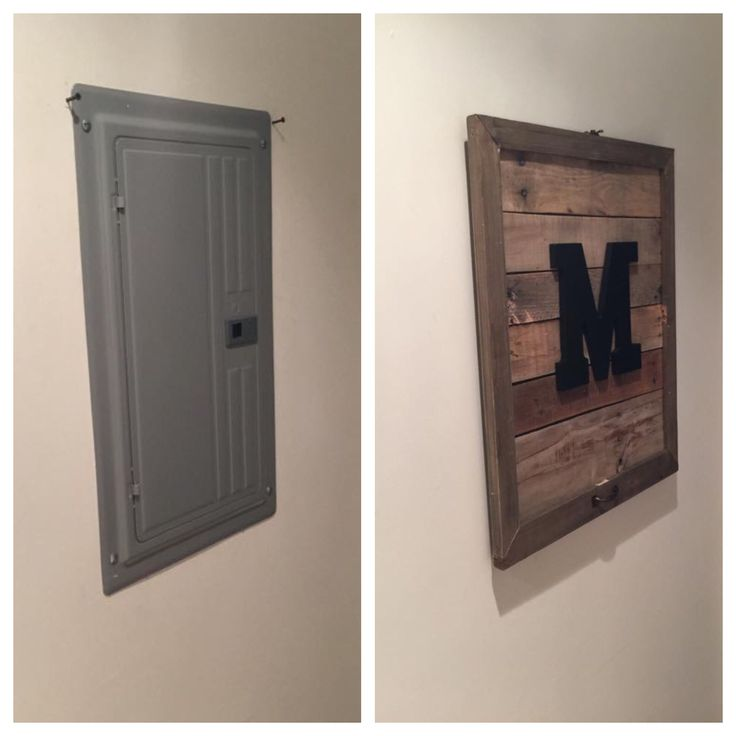 pallet monogram electrical box cover