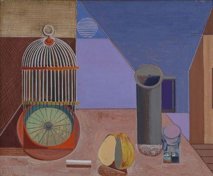 Tozzi Mario : Composizione di natura morta  (1961)  - Olio su tela