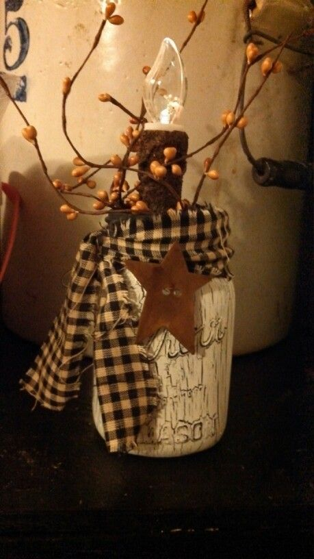 Crackle paint mason jar (1/15/14agc)
