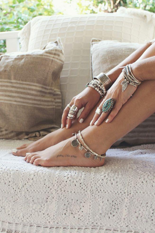 #ankles #bracelets #rings #tatoo