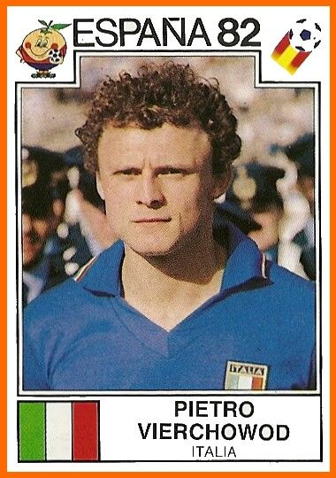 Pietro Vierchowod of Italy. 1982 World Cup Finals card.