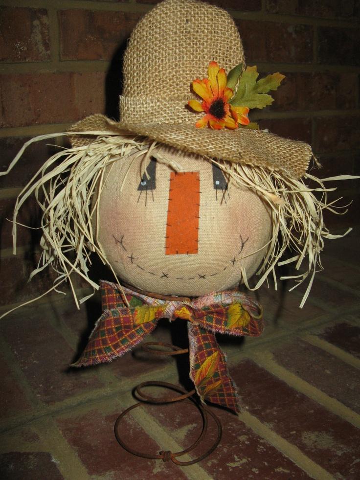 Primitive Scarecrow Nodder. $13.95, via Etsy.