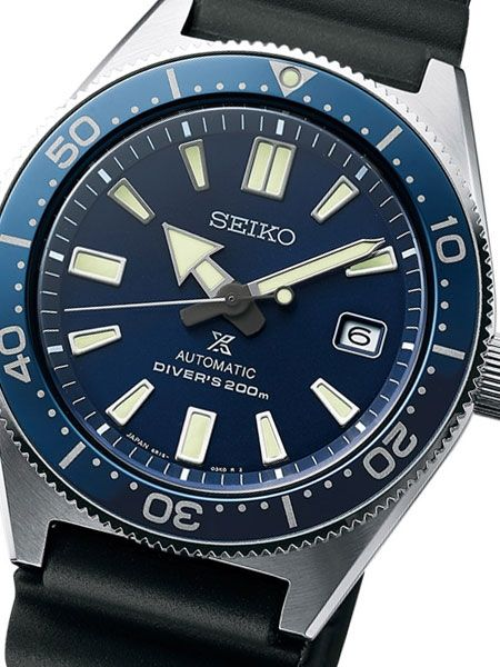 ff923947347 Seiko Prospex Automatic Dive Watch with Blue Dial and Soft Rubber Strap  #SBDC053