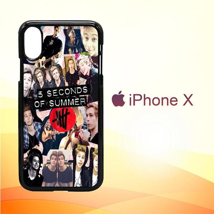 5 seconds of summer 5sos collage luke hemmings V1355 iPhone X Case