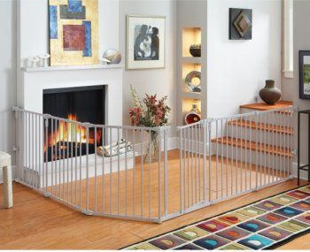 Expandable Metal Fireplace Safety Gate [4930FIRE] - $139.99 : Baby Safety Gates and Home Safety Products, Fireplace Safety Gates|Outdoor Baby Gates|Baby Gates for Stairs
